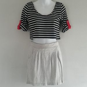 Set of top brand Esti Couture and  gray skirt